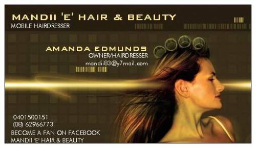 Mandii 'E' Hair amp Beauty - Hairdresser Find